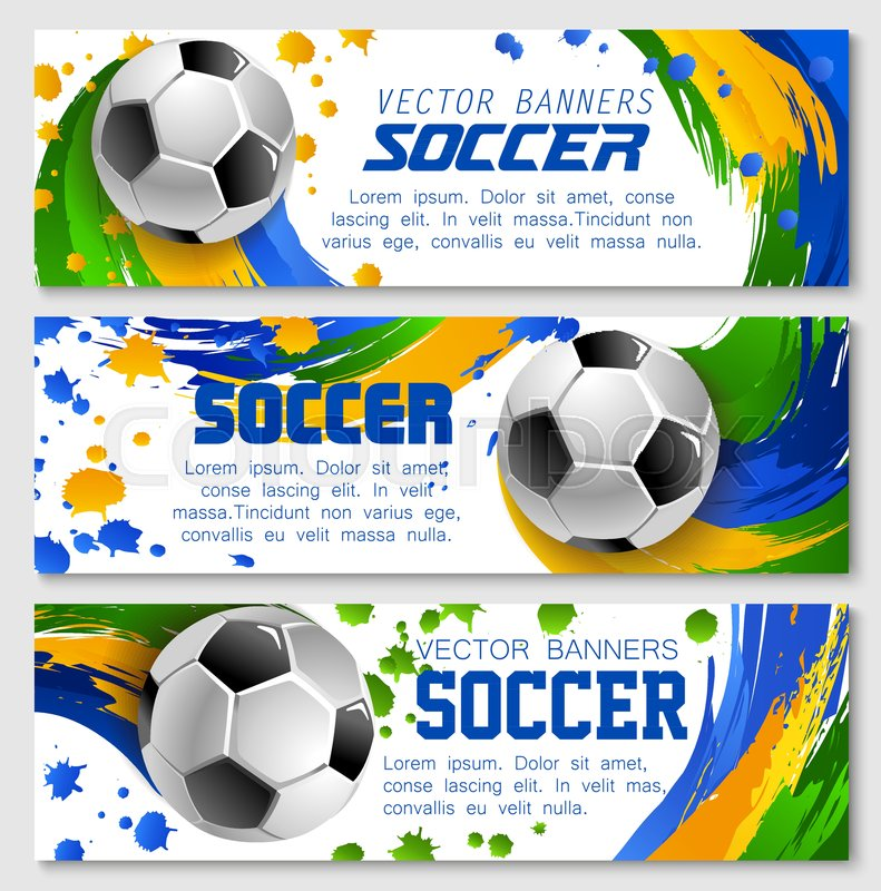 soccer game banners background templates for football sport team or