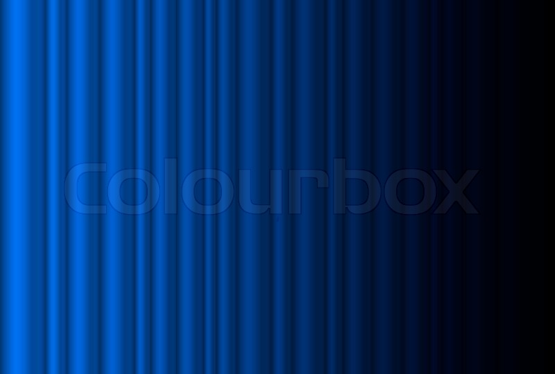 Fragment Dark Blue Stage Curtain Illustration Of The