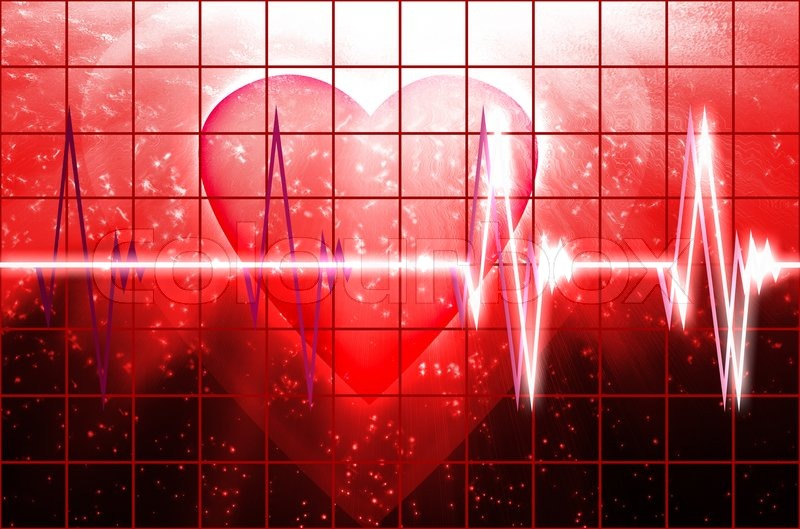 Valentine S Day Theme With Cardial Heart Beating Stock Photo