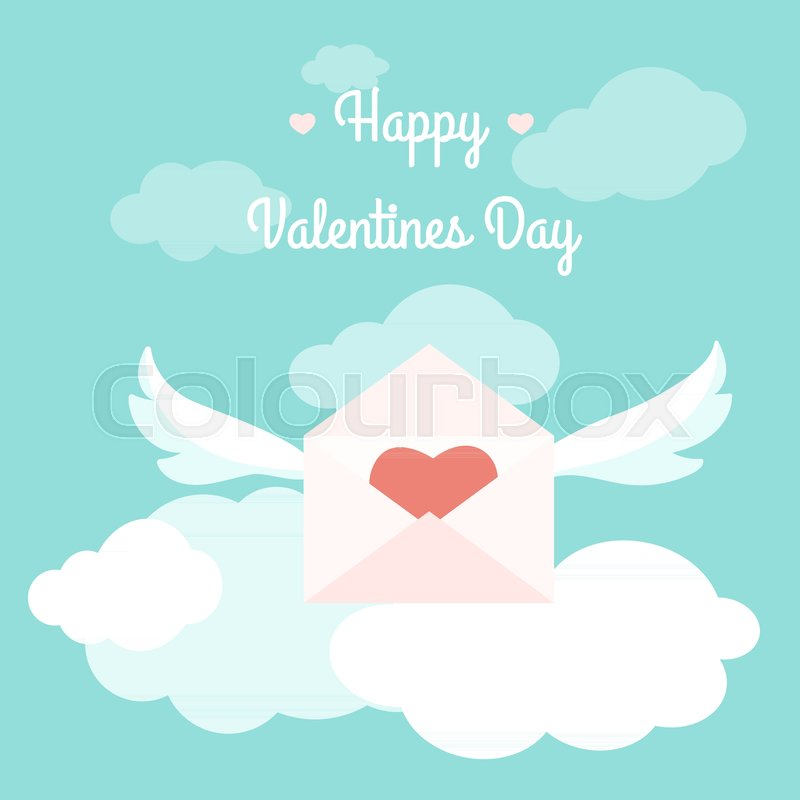 Happy Valentines Day Greeting Card Template Concept Vector Design