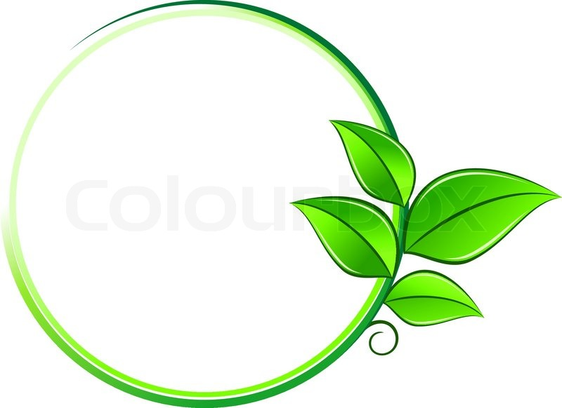 Green Leaves On Frame As An Environment Or Ecology Symbol