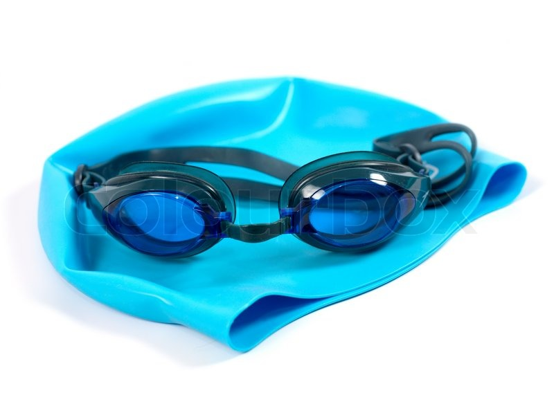 Swimming Goggles Isolated Against A White Background