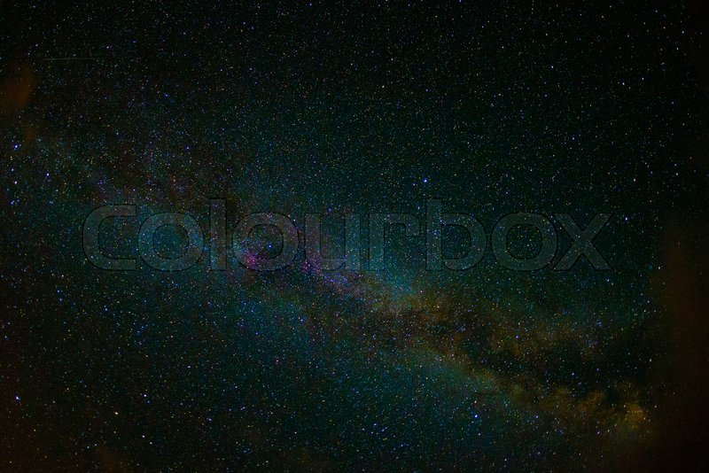 Stock image of 'astro photo night stars sky with milky way, hi ISO'