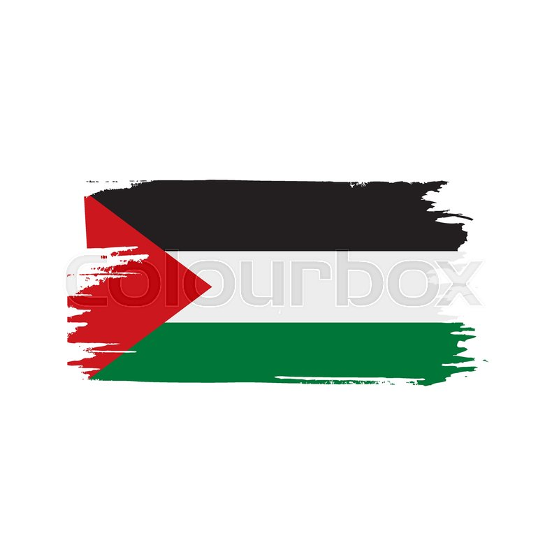 palestine flag vector illustration on a white background stock