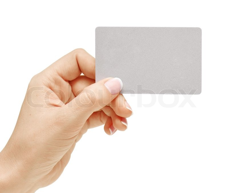 Hand holding blank business card with clipping paths | Stock Photo ...