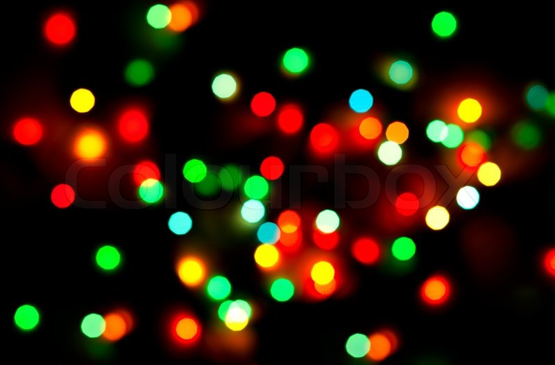 abstract christmas lights as background on black stock photo colourbox