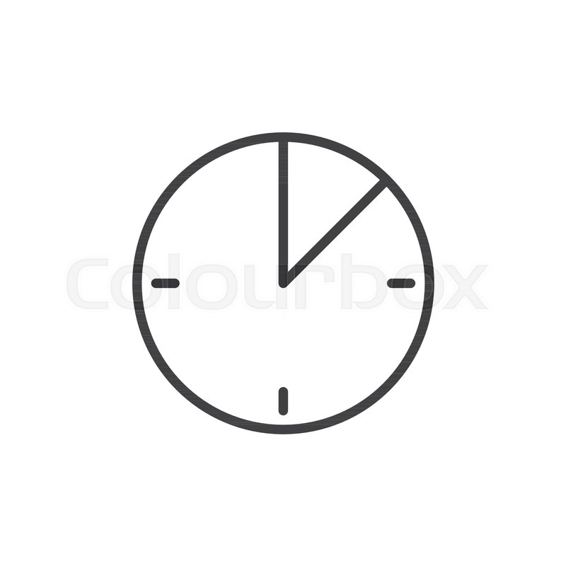 10 minute time line icon outline vector sign linear style pictogram isolated on white timer clock symbol logo illustration