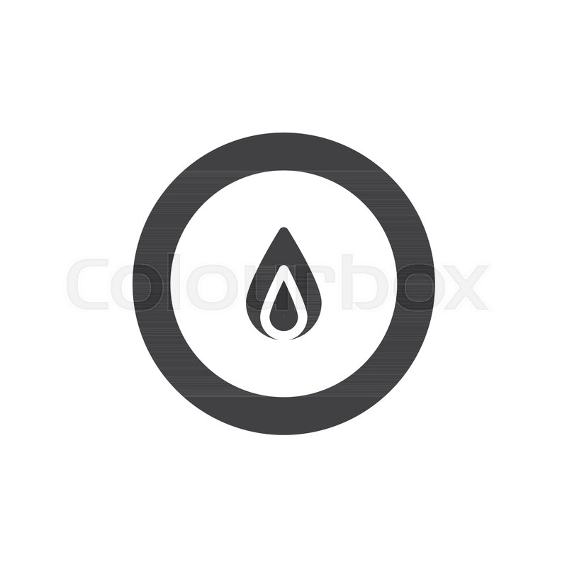 Flame in circle icon vector, filled     | Stock vector