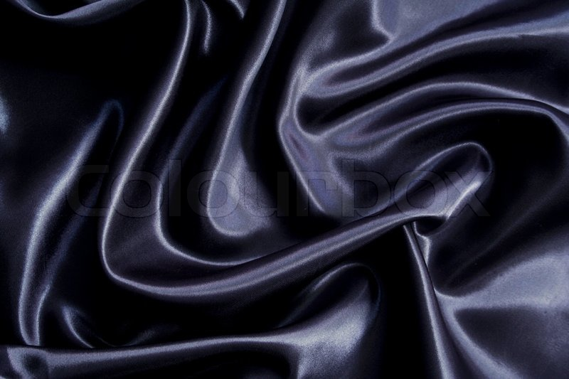 Smooth elegant black silk can use as background | Stock ...