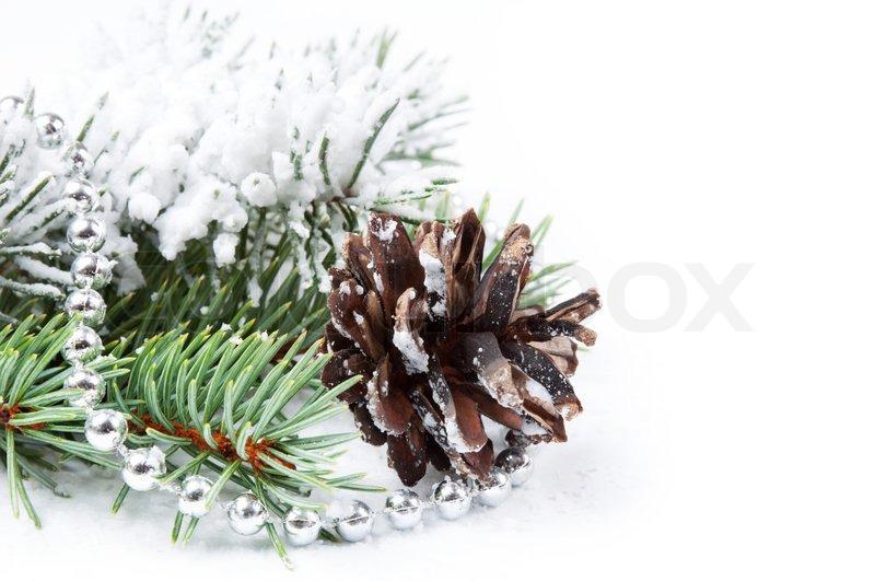 weihnachten hintergrund mit perlen tannenzapfen und. Black Bedroom Furniture Sets. Home Design Ideas