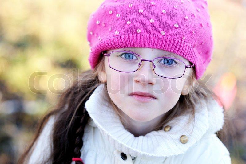 Cute Kid Wearing Glasses
