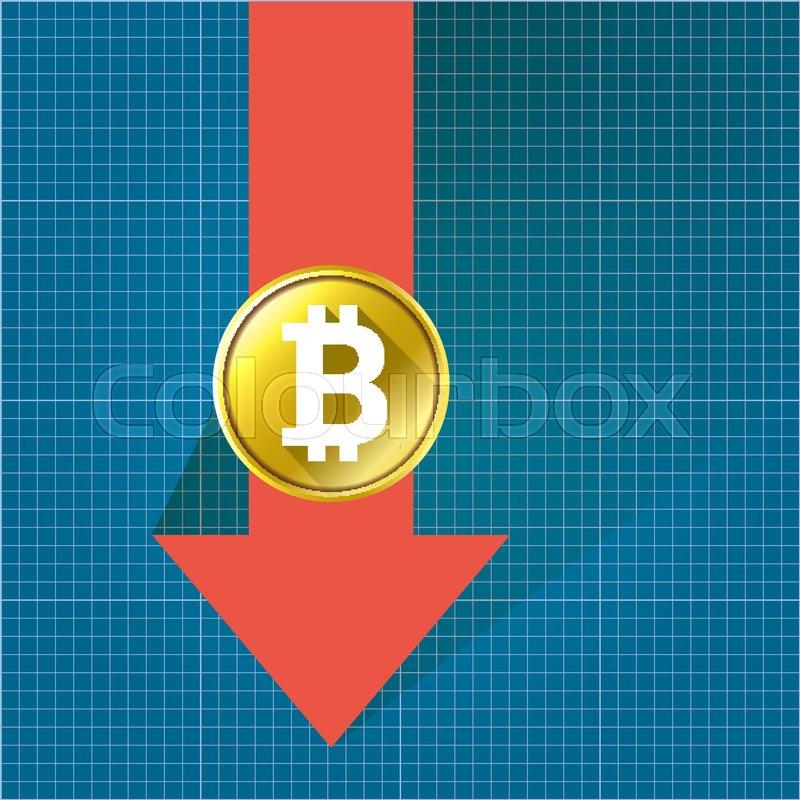 Vector bitcoin market crash graph on blueprint background bitcoin stock vector of vector bitcoin market crash graph on blueprint background bitcoin hype concept malvernweather Gallery