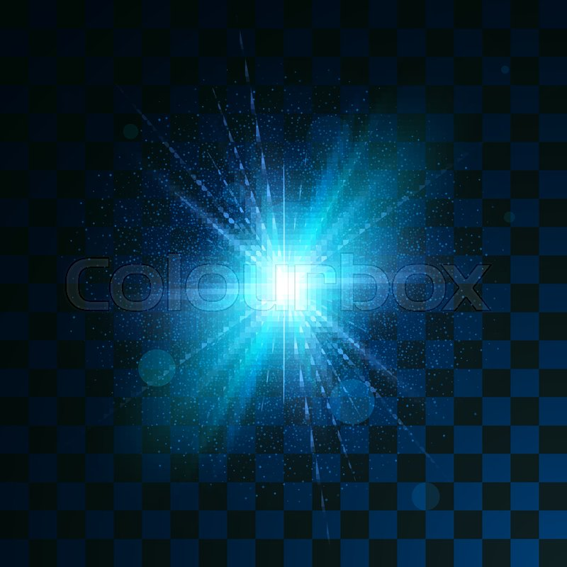 Blue glowing light glitter effect on     | Stock vector | Colourbox