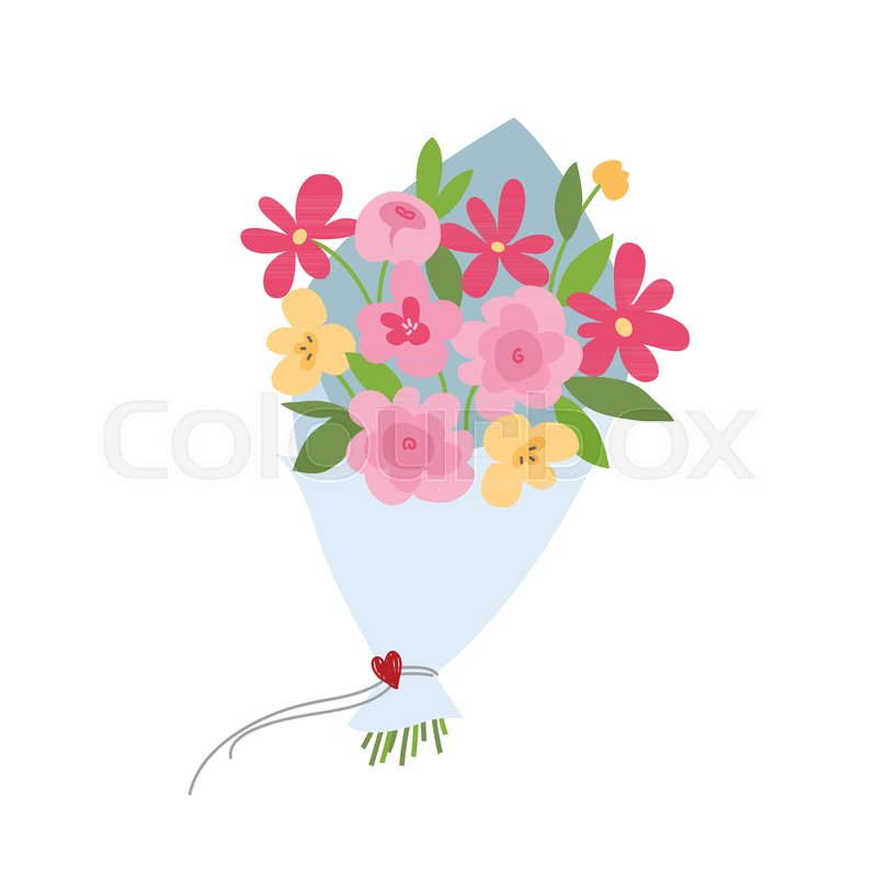 Spring bouquet of flowers. Valentines day, Wedding bouquet flowers ...