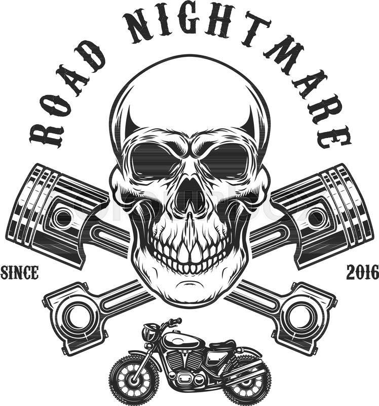 Road Nightmare. Human Skull With ...