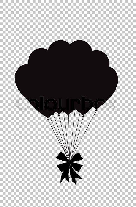 Black Silhouette Of Balloons Bunch Stock Vector Colourbox