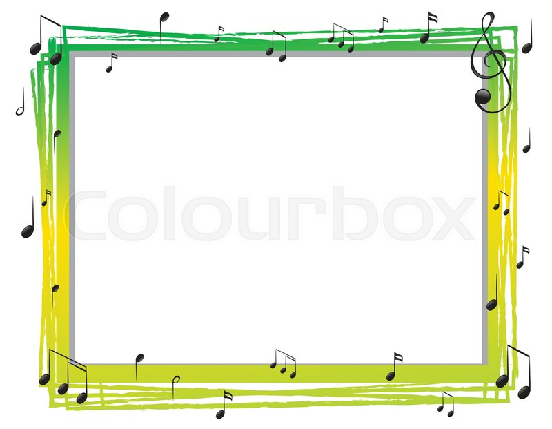 Border Template With Musicnotes Stock Vector Colourbox