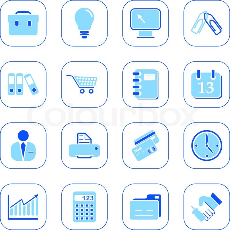 business icons blue series stock vector colourbox shopping bag clipart white png shopping bag clip art black and white