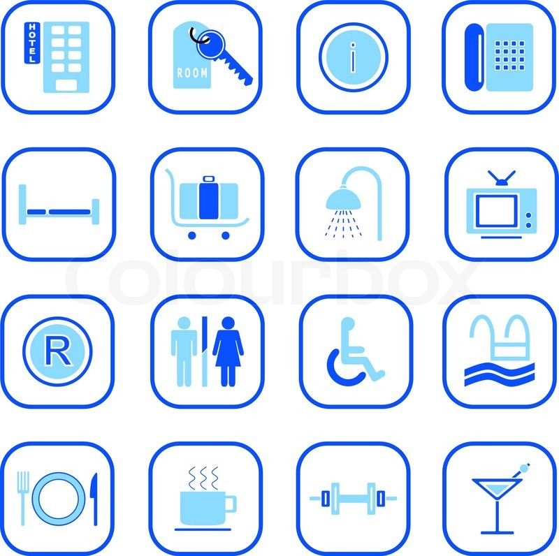 Hotel Building Icon Vector Stock Vector of 39 Hotel Icons