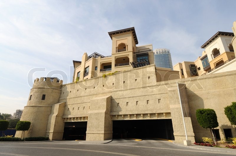 Arabic style modern architecture in dubai united arab for Modern house uae
