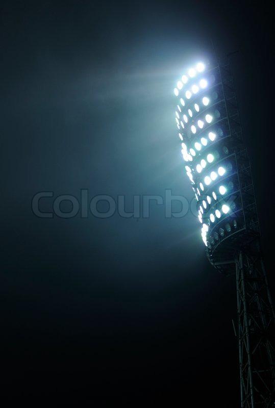 Quot Stadium Lights Against A Dark Night Sky Background