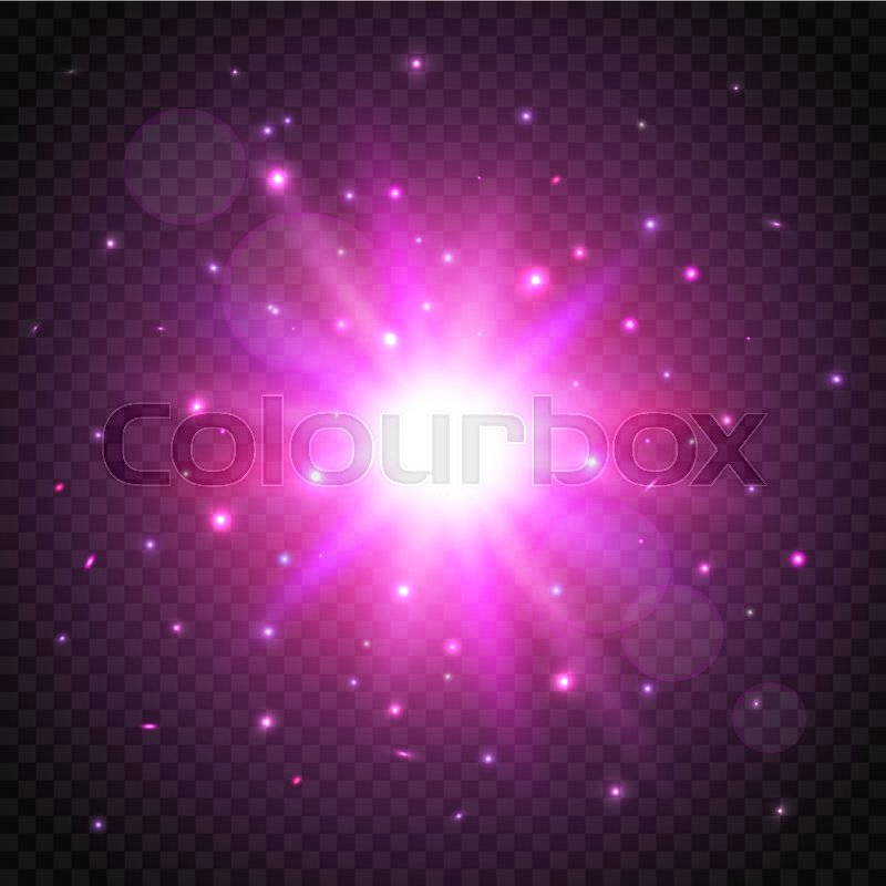 shine cosmic star on transparent background glow effect vector