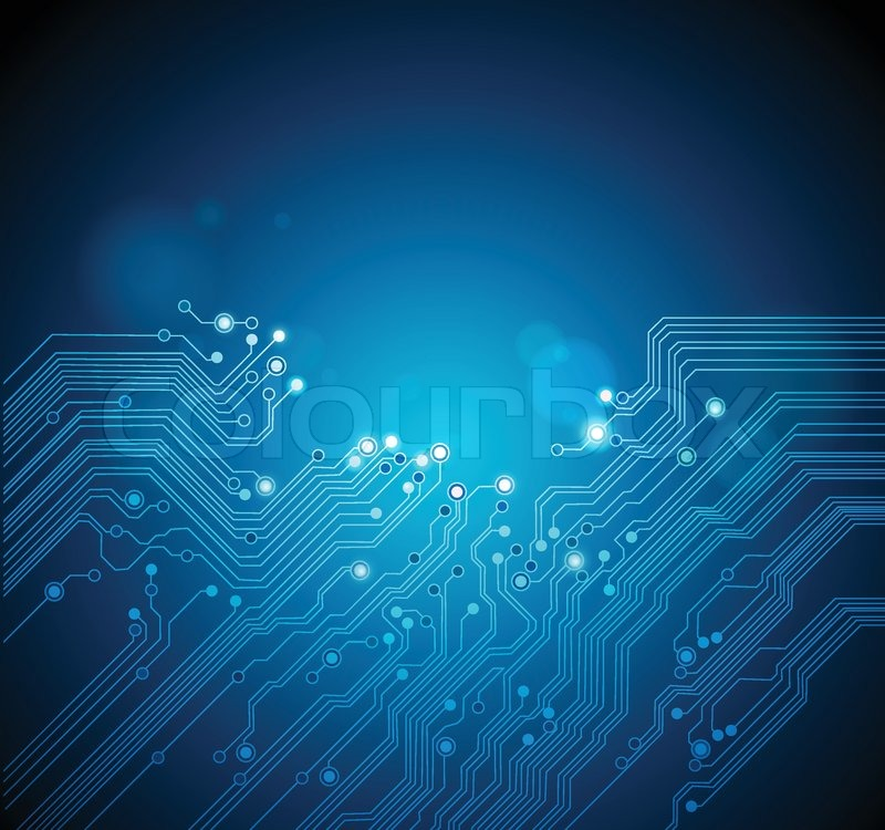 Circuit board abstract technology background | Stock ...