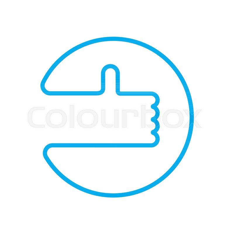Good Luck Sign Thumb Up Symbol Ok Stock Vector Colourbox