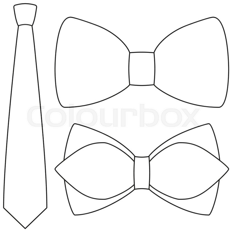 Icon line art poster man father dad day bow tie hipster set ...