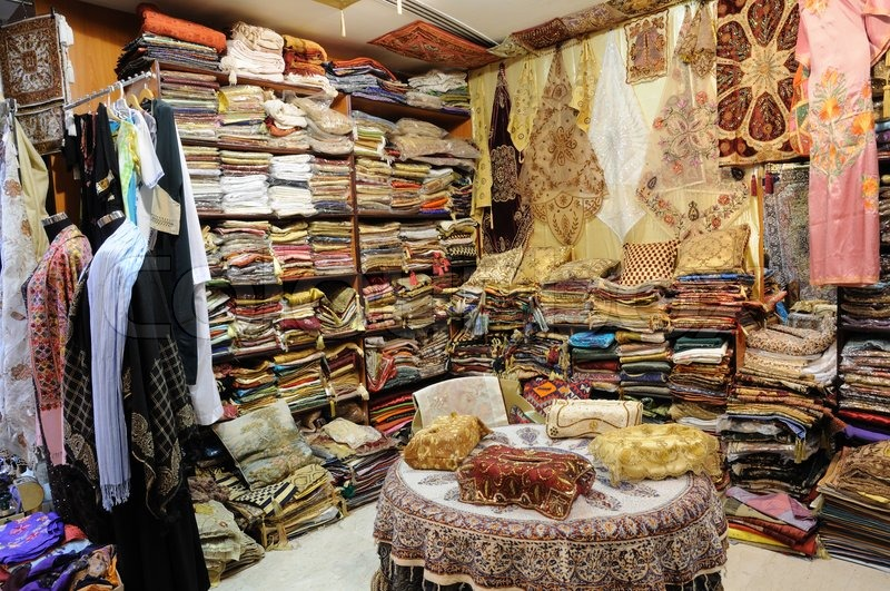 Shop with Traditional Arabic Products in Dubai, United Arab Emirates, stock photo