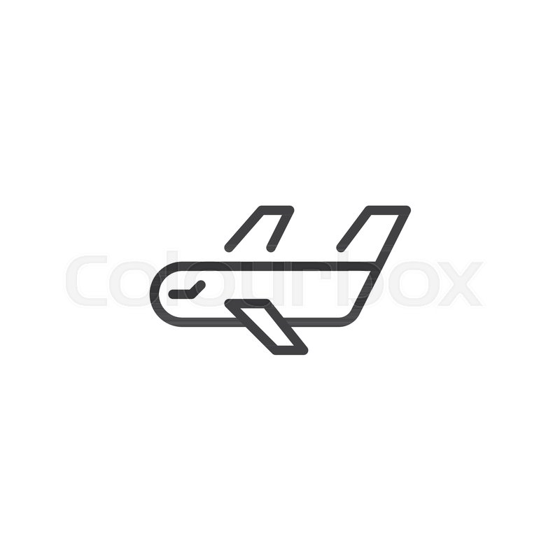 Cargo Airplane Line Icon Outline Vector Sign Linear Style