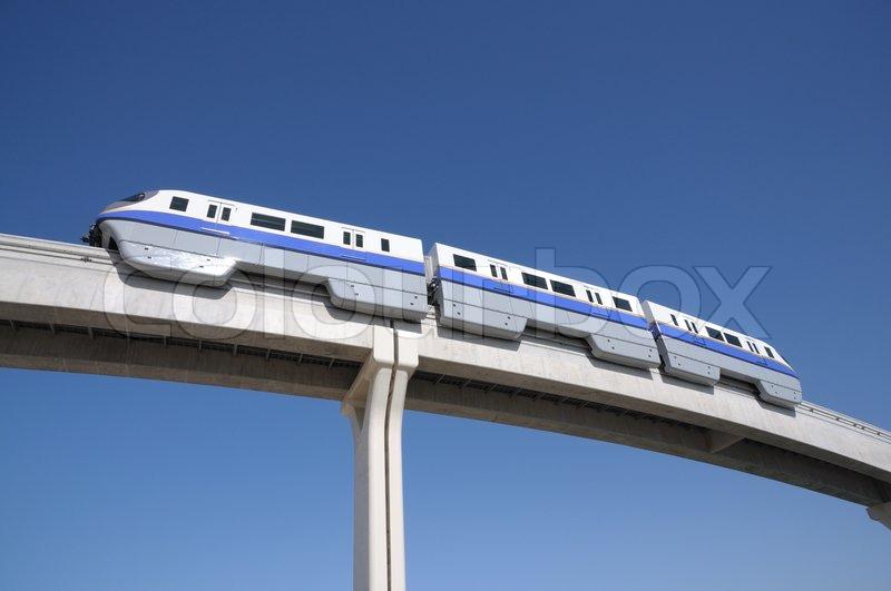 Palm Jumeirah Monorail Dubai Stock Photo Colourbox