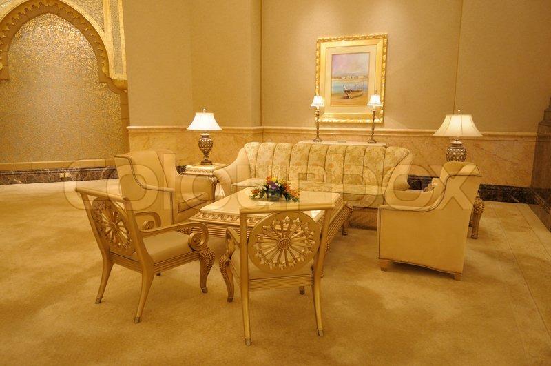 Interior Of The Emirates Palace Abu Dhabi United Arab Emirates Stock Photo Colourbox