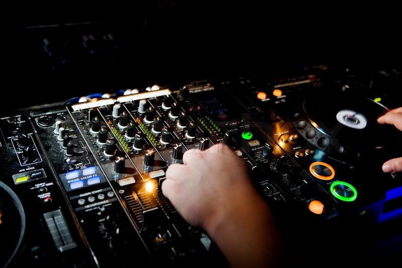 Mixer dj console, stock photo