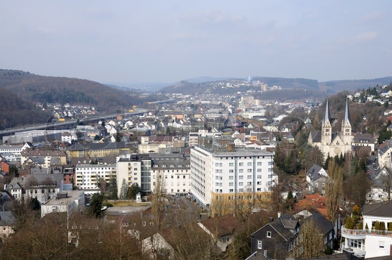 view of town siegen in north rhine westphalia germany stock photo colourbox. Black Bedroom Furniture Sets. Home Design Ideas