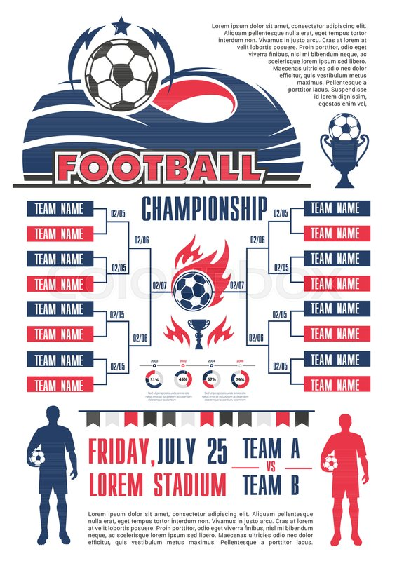 Football championship cup schedule banner template. List of soccer ...