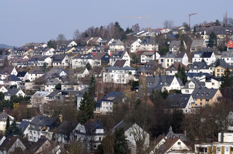 residential area in siegen germany stock photo colourbox. Black Bedroom Furniture Sets. Home Design Ideas