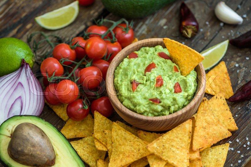 Guacamole Sovs Sund Stock Foto Colourbox
