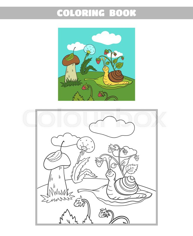 Page Of Coloring Book For Children Forest Animals Vector Illustration