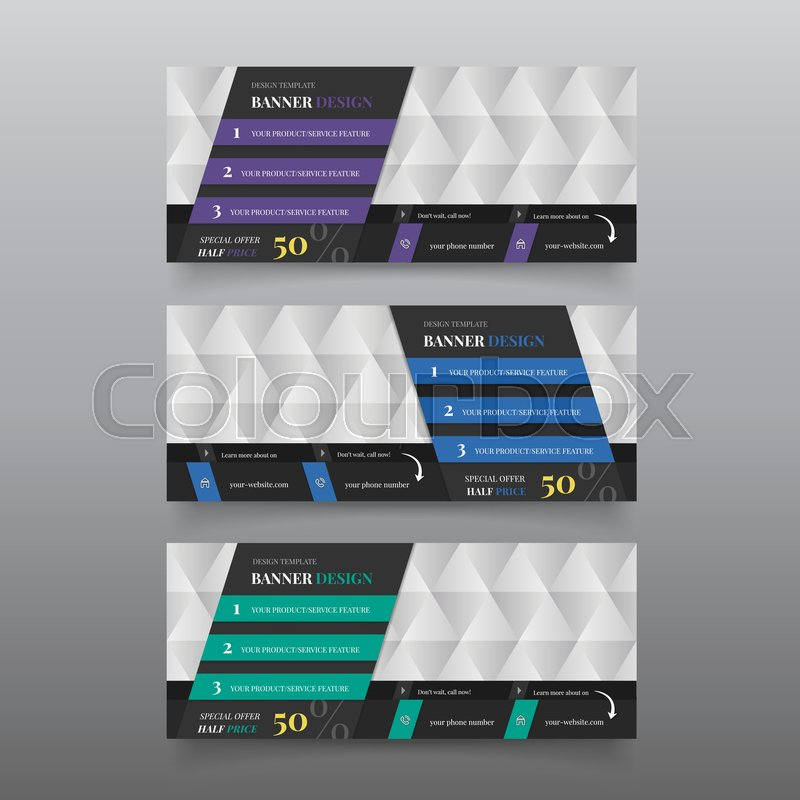 Diagonal banner for web page. Web banner design template with text ...