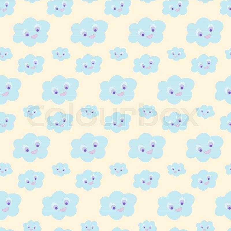 Cloud wallpaper for nursery. Baby bedding, nursery pattern ...