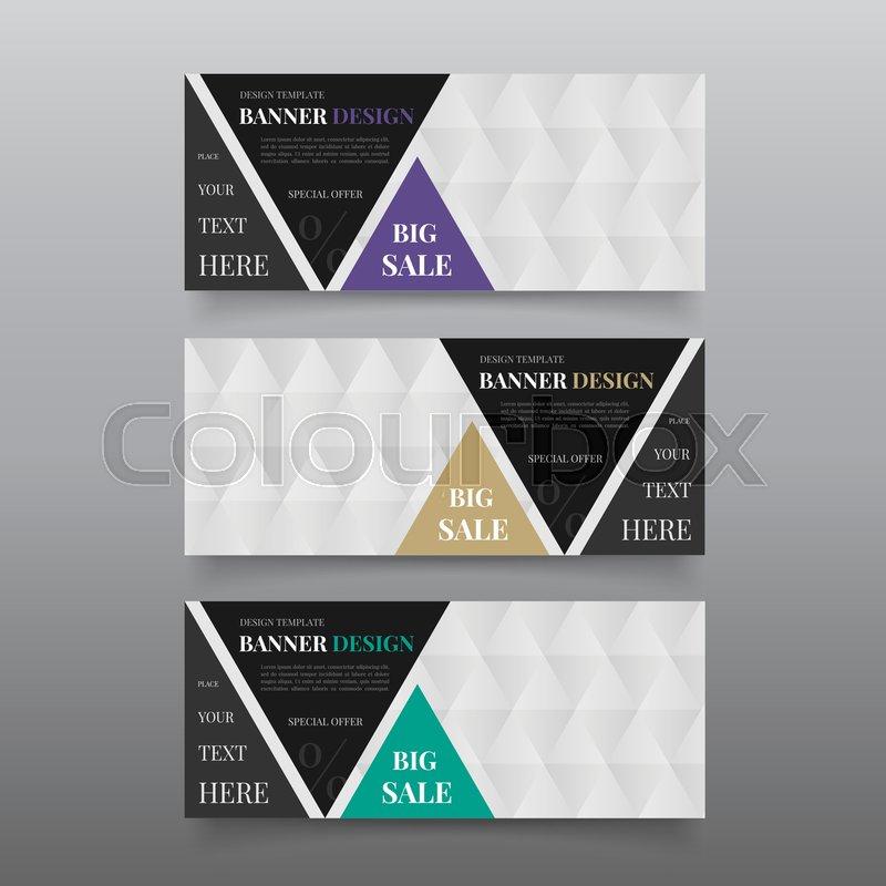 Triangle banner design templates. Web banner design vector. Website ...