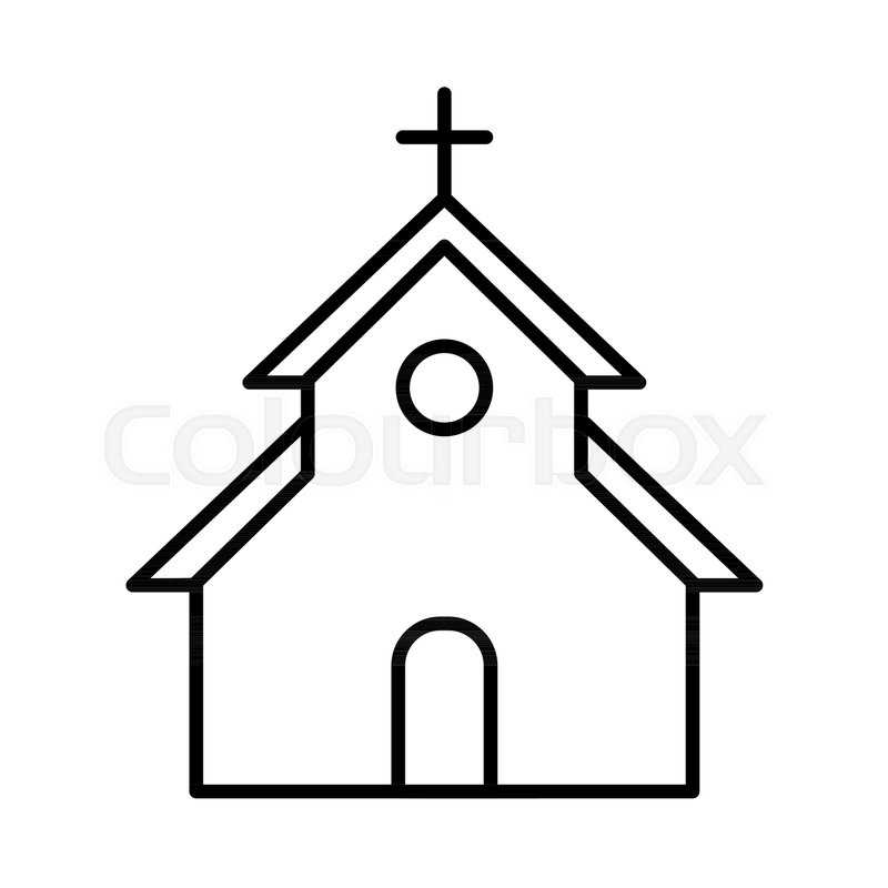 Church vector Icon Flat simple outline icon Easter concept Eps 10