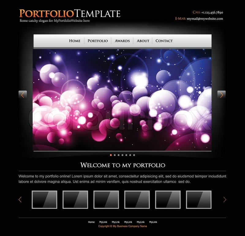 Black Stylish Website Template For Personal Portfolio Perfect - Photo studio website template