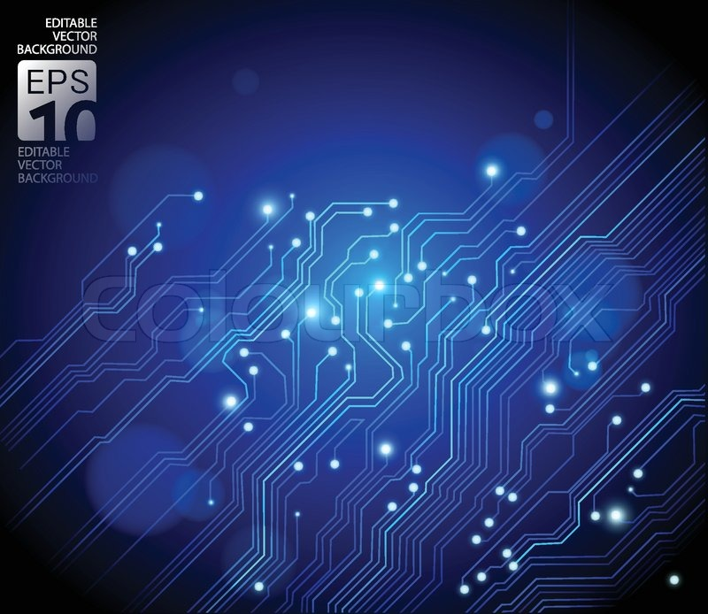 Abstract High Tech Background, Vector