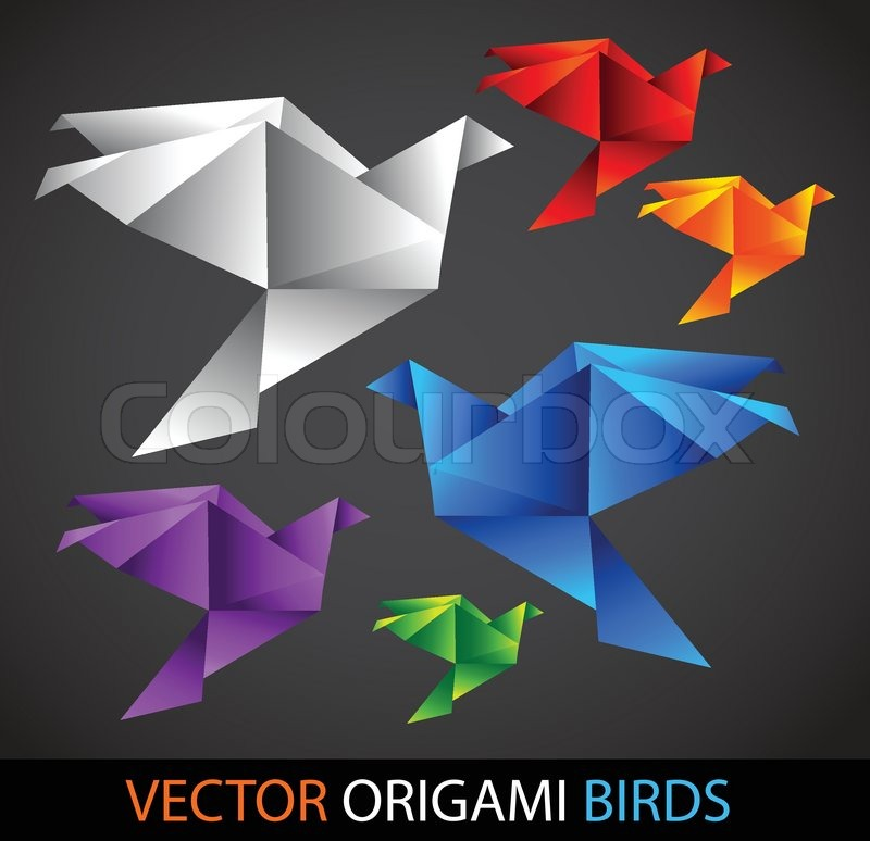 origami v gel stock vektor colourbox. Black Bedroom Furniture Sets. Home Design Ideas