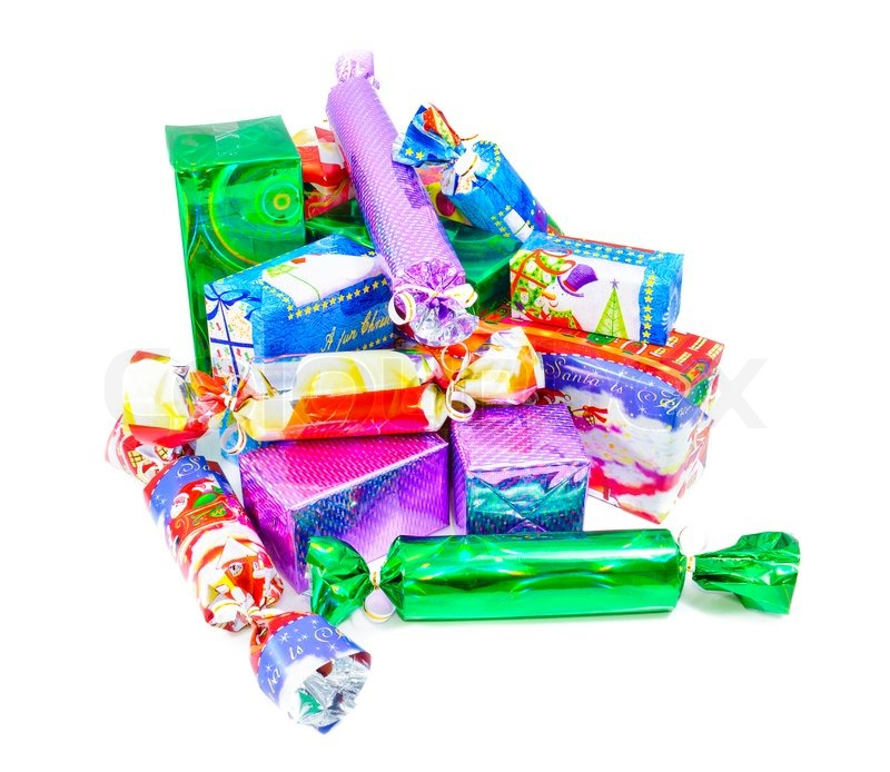 christmas gifts for the whole family multi colored boxes that are packed gifts stock photo colourbox