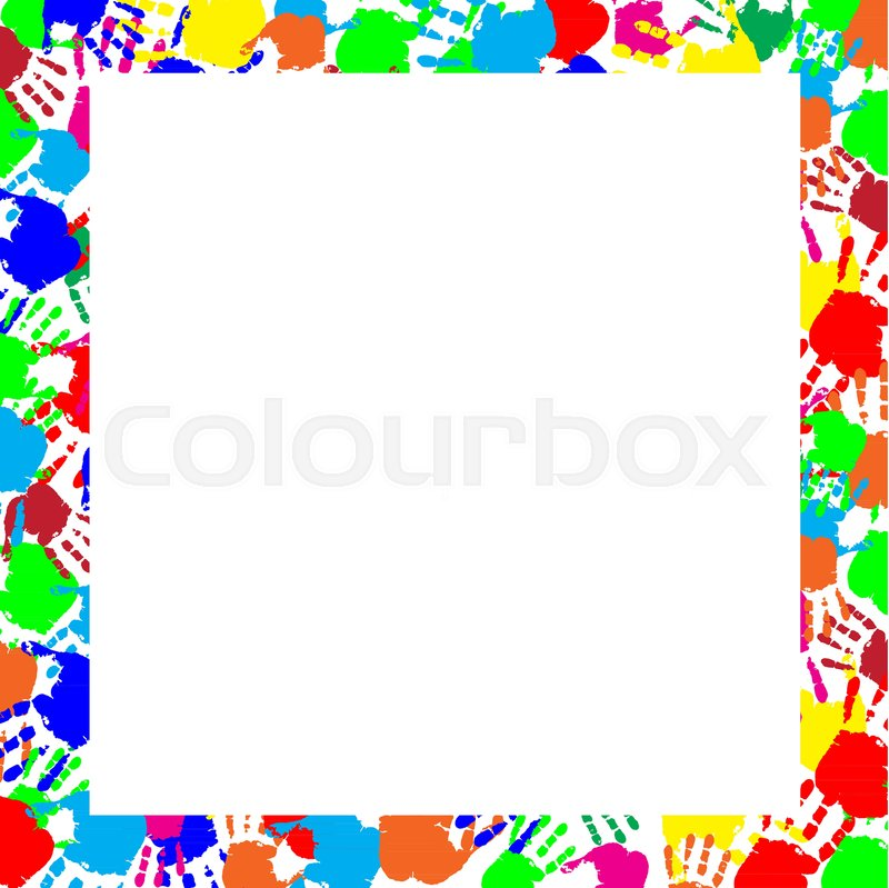 Colorful rainbow frame work with empty copy space for text or image ...