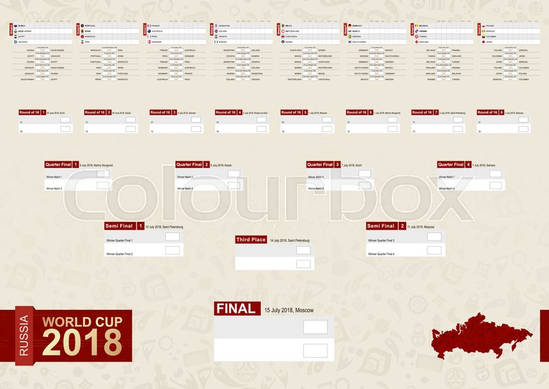 Football World Cup 2018 Russia Schedule