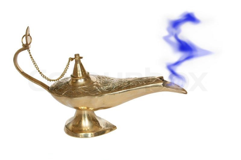 Genie Lamp   Symbol Of The Rapid Success, Stock Photo